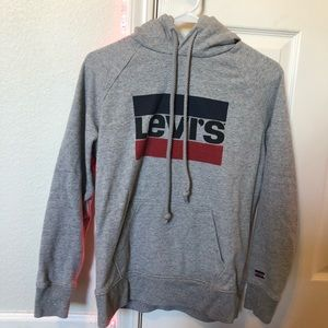 Levi's Hoodie with Red and Blue striped logo